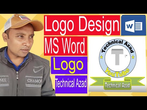 How to Make a Logo design in Microsoft Word| MS Word Logo design Bangla, Technical Azad