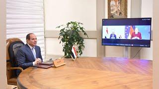 الرئيس-السيسي-يتلقى-اتصالًا-هاتفيًا-بتقنية-الفيديو-كونفرانس-من-المستشارة-الألمانية