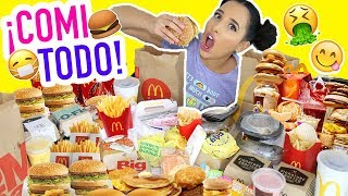 RETO EXTREMO: ME COMO TODO EL MENU DE MCDONALDS!! 🍔🍟   Mariale