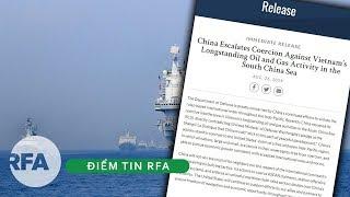 """Điểm tin RFA   Bộ Quốc phòng Mỹ lên án Trung Quốc 'bắt nạt"""" Việt Nam"""