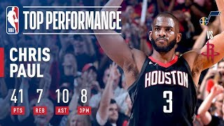 Chris Paul Scores Playoff CAREER HIGH 41 Points