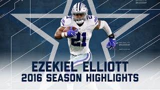 Ezekiel Elliott's Best Highlights from the 2016 Season   NFL