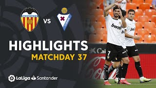 Resumen de Valencia CF vs SD Eibar (4-1)