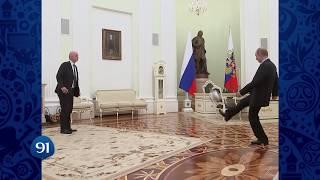 World Cup 2018: Vladimir Putin and FIFA Chief Playing Football in Kremlin