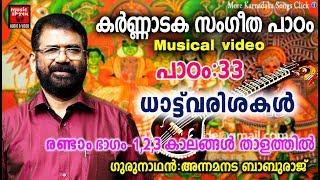 Karnataka Sangeetha Paadam 33 # Karnataka Sangeetham Malayalam 2018 # Classical Music For Studying