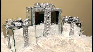 Dollar Tree DIY    💕 2018 Decorative Christmas Gift Boxes 💕