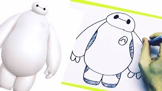 NEW Learn How To Draw Baymax From Disney Movie Big Hero 6 Step Easy Drawing Disney Cartoon