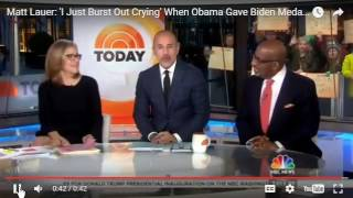 "I Burst out Laughing when I read that Matt Lauer ""Burst out Crying"" LMAO"
