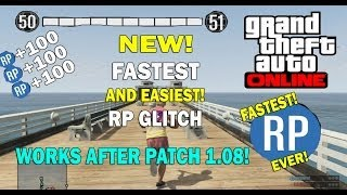 GTA 5 Online- NEW FASTEST! And EASIEST! RP Glitch! 3 million/RP SUPER FAST! (After Patch 1.08)