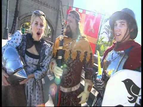 Toasted TV promote the Abbey Medieval Festival