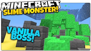 SLIME BOSS IN VANILLA MINECRAFT! | Sludge Monster That Chases You (Minecraft Vanilla Mod)