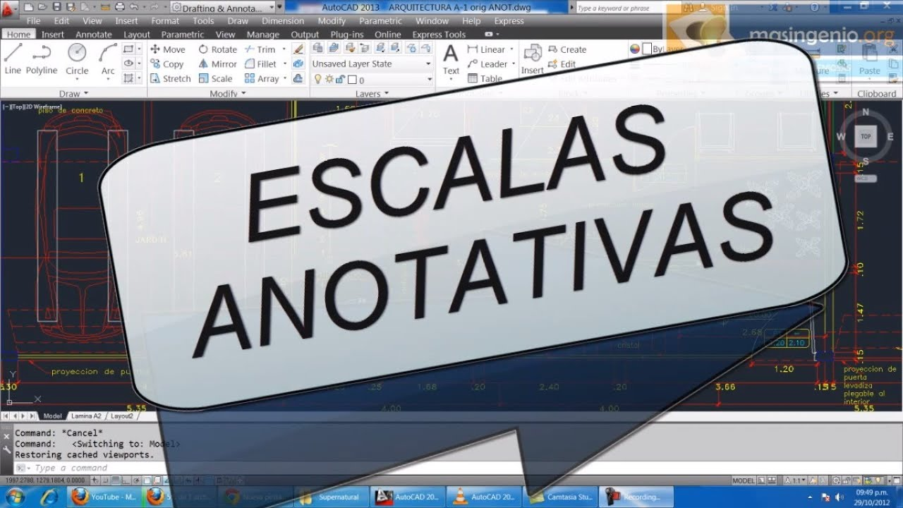 Escala Rápido Con Las Escalas Anotativas De AutoCAD - Smashpipe Tech Video