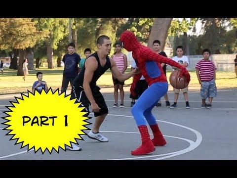 Spiderman joue aussi au Basket