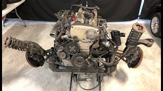 TOTALED GTR ENGINE PULL (two subframes one day)