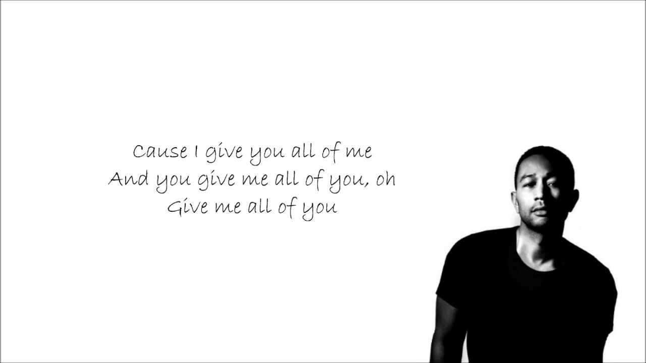 John Legend - All Of Me With Lyrics - YouTube