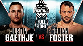Full Fight | Justin Gaethje vs Brian Foster (Lightweight Title Bout) | WSOF 29, 2016