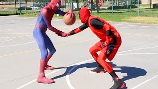 Spiderman vs Deadpool (scene via Spiderman Basketball Ep 6)