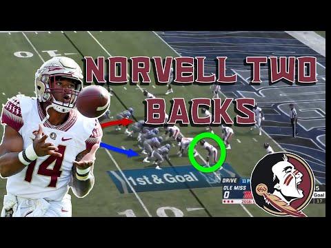 FSU football breakdown: two back formations in Norvell's offense