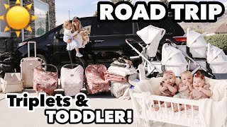 The triplets very first, LONG, EPIC road trip! | Traveling with 4 kids 2 and under