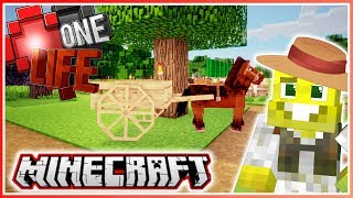 My Cute Horse and Cart | Minecraft One Life 2.0 | Ep.8