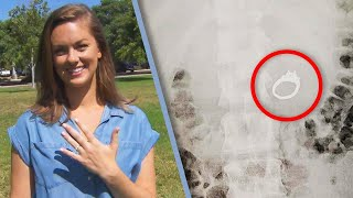 Woman accidentally swallows engagement ring in her sleep..