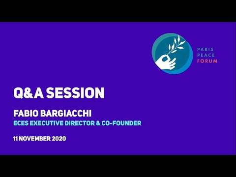 Q&A : Fabio Bargiacchi at the Paris Peace Forum