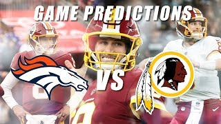 Denver Broncos vs Washington Redskins Predictions