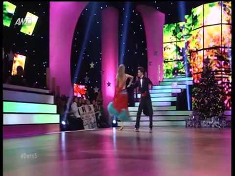 Χρήστος Σπανός Μαρία Αντιμισάρη Η εμφάνιση στο δέκατο live του Dancing With The Stars 5