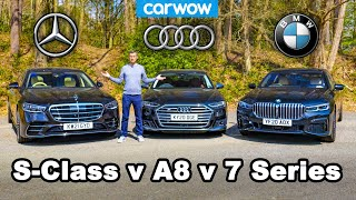 Mercedes S-Class v BMW 7 Series v Audi A8 review - which is best?