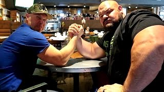 ARM WRESTLING VS WORLD'S STRONGEST MAN!