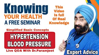 Live Seminar - Blood Pressure | Ask Dr.Paramjeet | Dr.Education