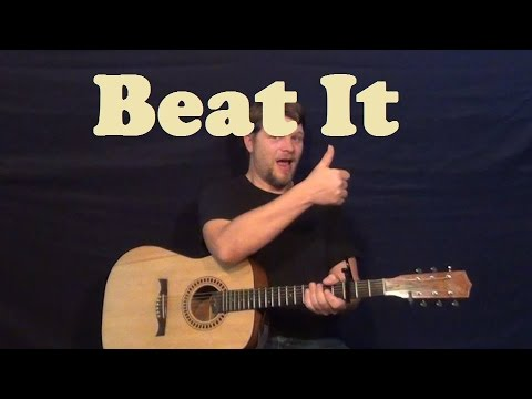 beat it michael jackson easy strum guitar lesson standard tuning how to play tutorial. Black Bedroom Furniture Sets. Home Design Ideas