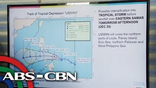WATCH: PAGASA gives the latest on #UsmanPH   27 December 2018
