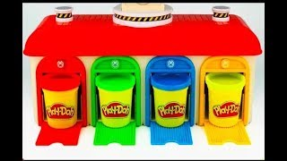 Learn Colors with Play Doh and Animals Garage Play Squishy Balls Toys For Kids Children