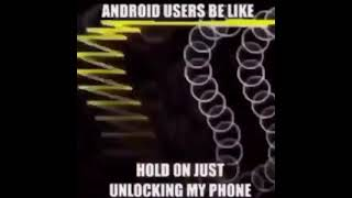 Android users be like meme