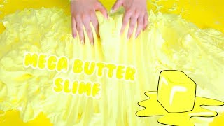 GIANT BUTTER SLIME WITH SOFT CLAY | mega daiso clay slime | Slimeatory #108