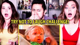 TRY NOT TO LAUGH CHALLENGE: FUNNY KIDS FAILS VINES COMPILATION   Reaction!