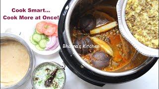 Multiple PIP Recipes Cosori Instant Pot Indian Cuisine Meal Video Recipe | Bhavna's Kitchen