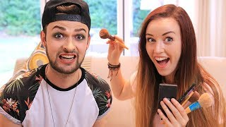 GIRLFRIEND DOES MY MAKEUP! - Clare & Ali! 😱