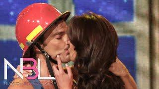Bárbara y Julián se besaron apasionadamente en el reto NBL VIP
