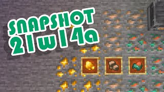 1.17 Snapshot 21w14a | Raw Ores & Fortune Iron, Gold, and Copper! | Minecraft News