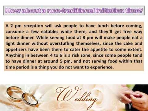 6 Important Things to Consider Before Opting for a Cocktail Wedding Reception