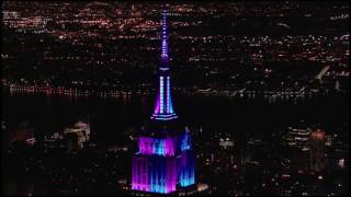 Empire State Building Light Show for Tony Bennett's 90 Year Legacy