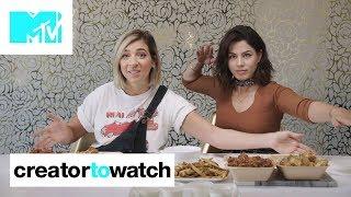Gabbie Hanna & Megan Batoon MUKBANG Chicken Wings 🍗 | MTV Creator To Watch