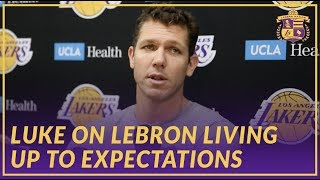 Lakers Interview: Luke Walton Talks About LeBron Passing Wilt and Living Up to Expectations