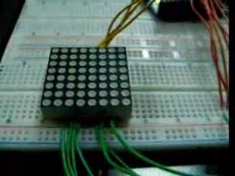 Arduino 8x8 Led Matrix Youtube