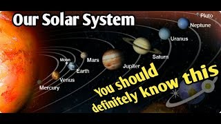 Exploring our Solar System video for Kids | solar system facts and figure