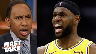 Stephen A. rips LeBron: No aggression, no offense! | First Take