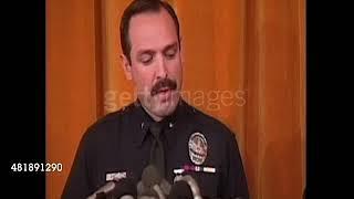 (1994) LAPD Cop David Gascon announce OJ missing