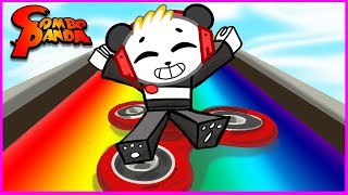 ROBLOX Box Slide down a Rainbow on Fidget Spinner! Let's Play with Combo Panda!